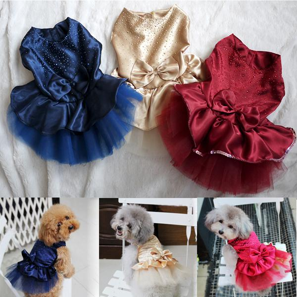 Princess Style <font><b>Dog</b></font> <font><b>Dress</b></font> Pet <font><b>Dog</b></font> Puppy <font><b>Wedding</b></font> Party Lace <font><b>Dress</b></font> Clothes Bow Tutu Princess <font><b>Dress</b></font> Pet Apparel PCMMA image