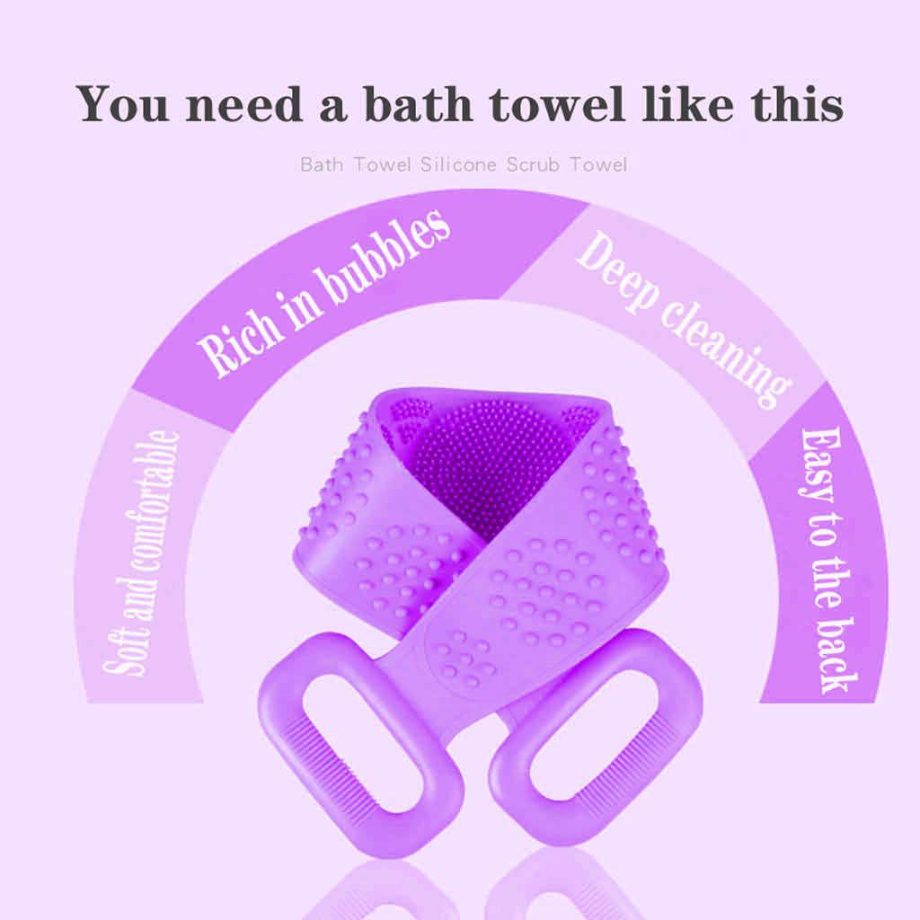 Lange Zurück Handtuch Reiben Bad Pinsel Seitige Wäscher Silikon Peeling Körper Hautpflege Reiben Peeling Hause Bad Dusche Waschen