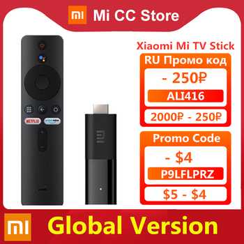 Globale Version Xiaomi Mi TV Stick Android TV 9,0 Smart 2K HDR 1GB RAM 8GB ROM Bluetooth 4,2 Mini TV Dongle Wifi Google Assistent