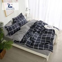 Liv-Esthete Geometry Bedding Set Decor Home Textiles Quilt Cover Bedspread Flat Sheet Luxury Linens Double Adult Duvet