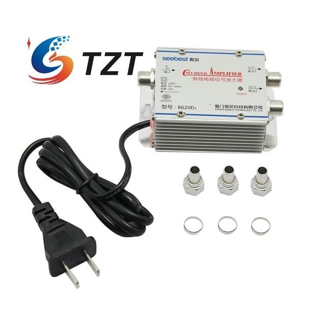 Tzt Seebest SB 8620D2 Kabel Tv Signaal Versterker Splitter Booster Catv Versterker 2 Output 20DB