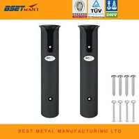 2X Black ABS Plastic Fishing Rod Bracket Holder Lightweight Fishing Rod Spinning Accessories Durable Pole Tube Mount Socket Rack
