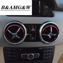 Car Styling Center Console Air Outlet Panel Covers Stickers For For Mercedes Benz GLK X204 200 260 300 Auto Interior Accessories