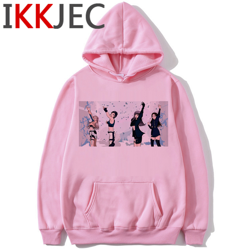 Blackpink In Your Area Harajuku Hoodies Women Ullzang Kill This Love Album K-pop Sweatshirt Jisoo Jennie Lisa Rose Hoody Female 6