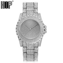 Mens Iced Out Watches Luxury Date Quartz Wrist Watches With