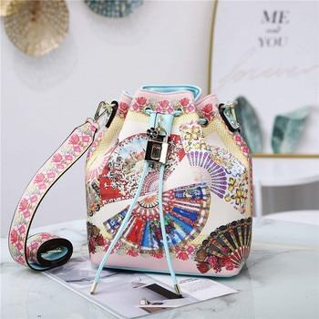 2020 New Famous Designer Women's Bag Shoulder Diagonal Print Bucket Bags European and American Brands Women Handbags Louis Bags