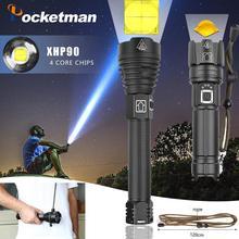 Highest lumen Most Powerful XHP90 long-range Flashlight LED Tactical Zoom XHP70.2 LED Torch