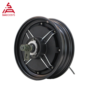 QS Motor 10*2.15inch 2000W 205 45H V3 Low Power BLDC Motor in Wheel Hub Motor for Electric Scooter image