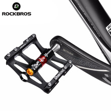 ROCKBROS 4 Bearings Bicycle Pedal Anti slip Ultralight CNC MTB Mountain Bike Pedal Sealed Bearing Pedals Bicycle Accessories