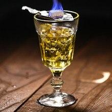 260ml vintage alívio absinto copo de vinho sem chumbo cocktail taça de vidro festa de casamento bar beber copos de vidro presentes