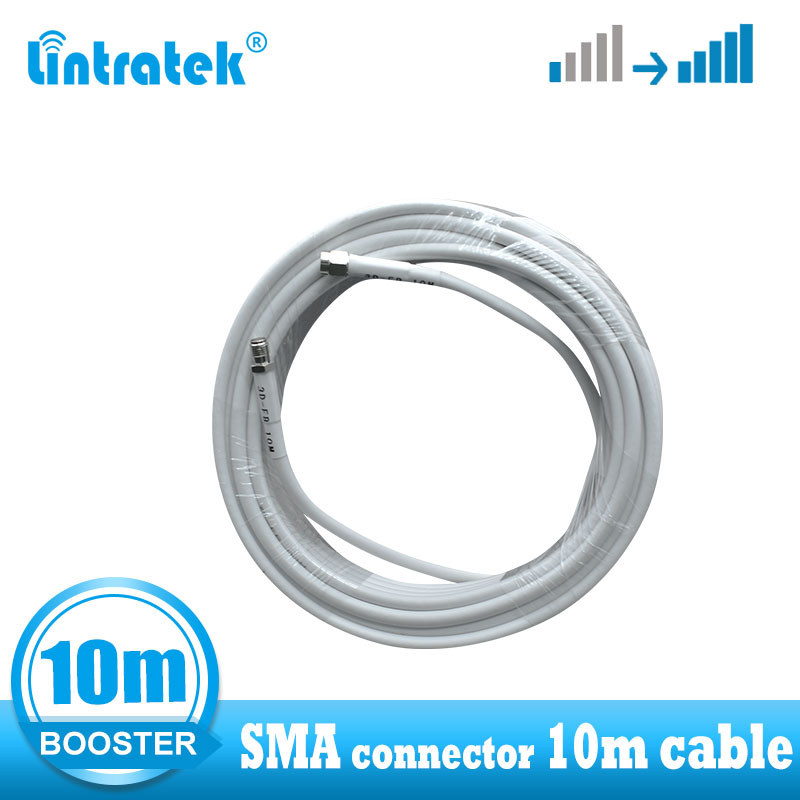 Lintratek Sma Connector 10 Cable For Signal Booster Low Loss 3D High Quality SMA Female To SMA Male Connector