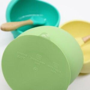 Image 3 - ベビーシリコーン子供の食器ダイニングプレートトップ供給するためbpa送料食器フルーツplatos子供ベビー哺乳ディナーボウル