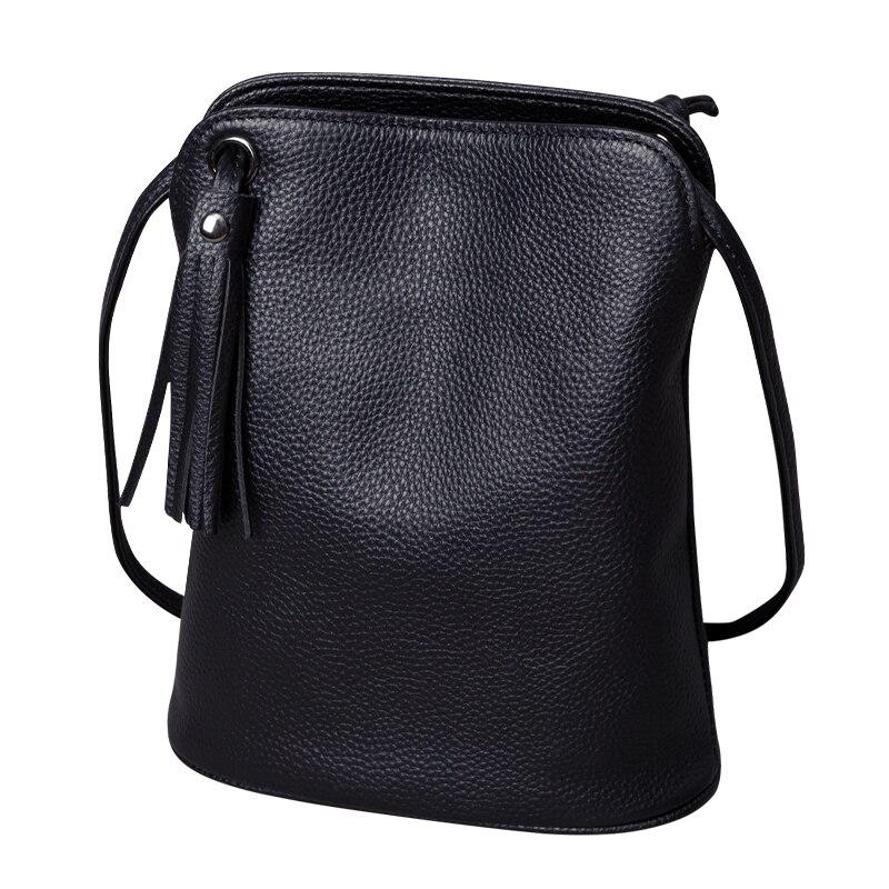 Bolsa de Luxo das Senhoras Bolsa de Ombro Bolsa do Mensageiro do Sexo Couro Genuíno Borla Crossbody Bags Feminino Pequeno Moda Dinheiro Carteiras