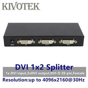 Image 1 - 2 พอร์ต DVI Splitter 1x2 อะแดปเตอร์ dvi จำหน่าย dual link Dvi D 29 pin หญิงสำหรับกล้องวงจรปิดกล้องมัลติมีเดีย STB