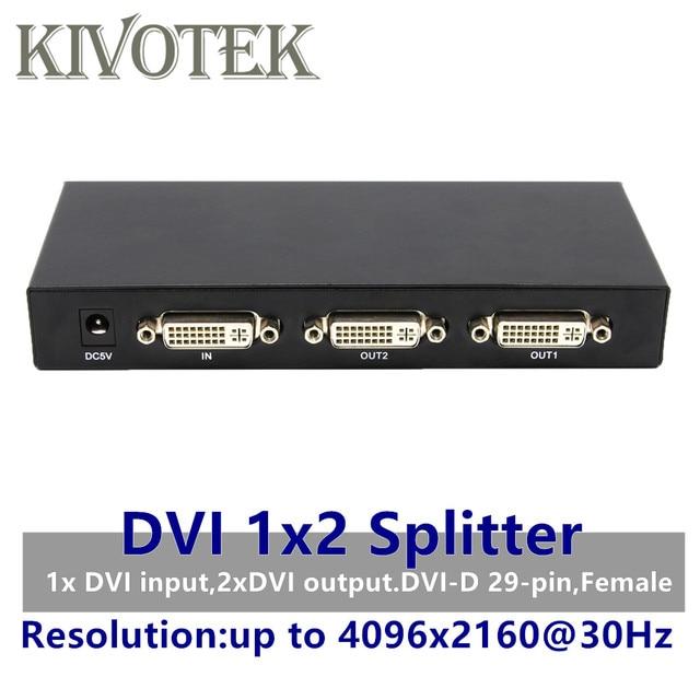 2 Ports DVI Splitter 1x2 dvi Adapter Distributor,Dual link Dvi D 29 pin Female Connector For CCTV Monitor Camera Multimedia STB
