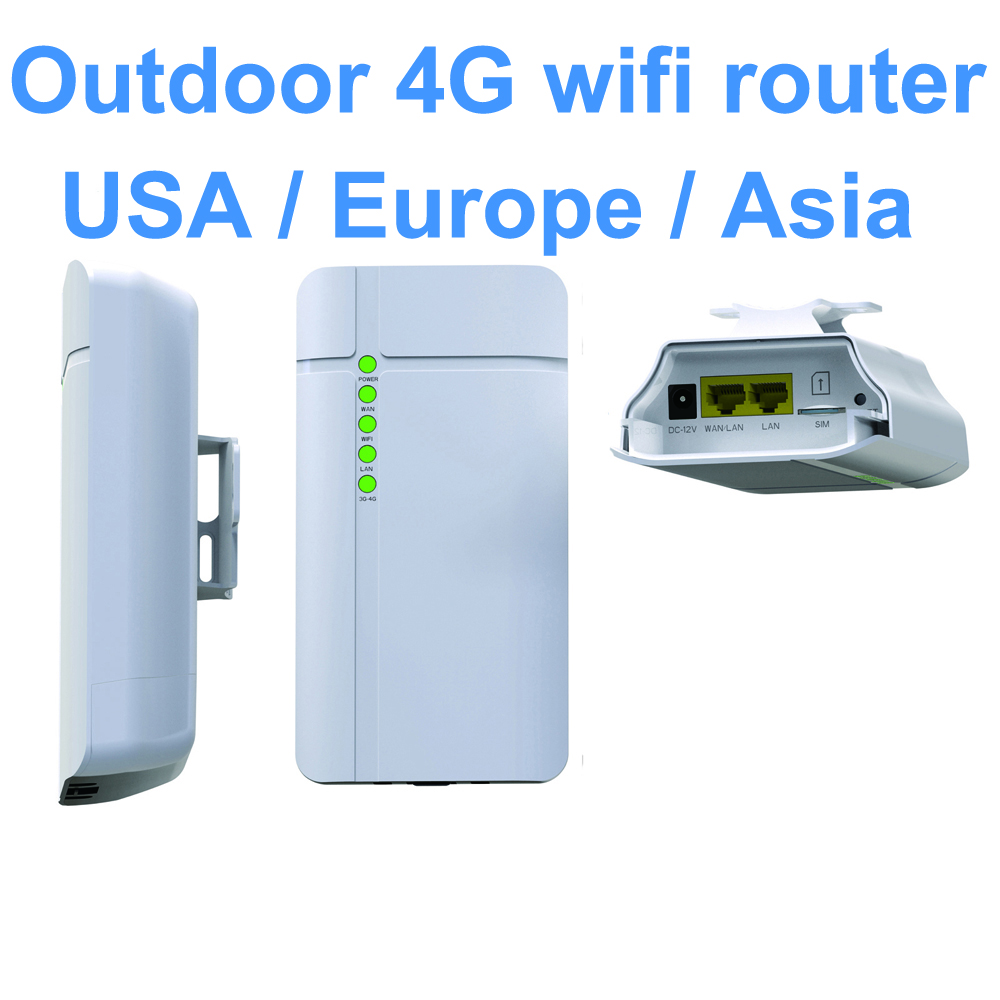 GC112 Waterproof Outdoor 4G CPE Router CAT4 LTE WiFi Router 3G/4G SIM Card For IP Camera Outside WiFi Coverage
