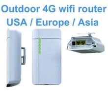 Routeur WiFi 3G/4G CPE CAT4 LTE d'extérieur, étanche, carte SIM pour caméra IP, couverture WiFi extérieure (GC112)