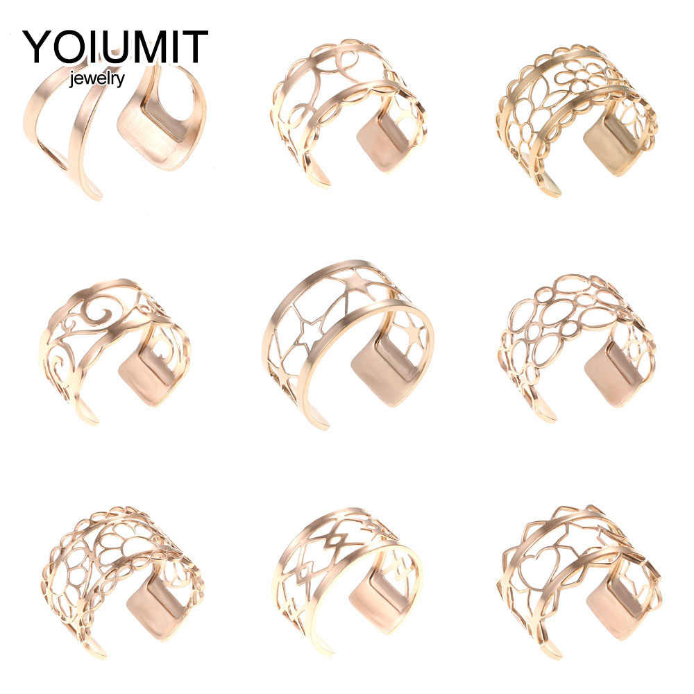 Cremo New Trendy Resizable finger Rings Stainless Steel Ring Style Rose Gold Leather Anniversary Ring Jewelry Gift for Her