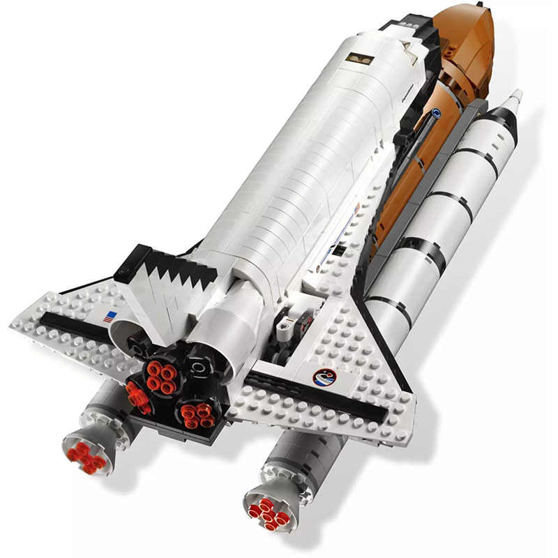 legoinglys In Stock 16014 Space Shuttle Expedition Model Building Kits Set Blocks Bricks Compatible 10231 Children Toy 1230Pcs