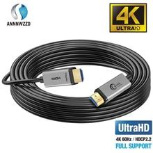 4k hdmi fibra óptica 2.0 cabo de alta velocidade 18gbps 4k @ 60hz compatível tv de fogo 3d função ethernet suporte vídeo 4k uhd 2160p