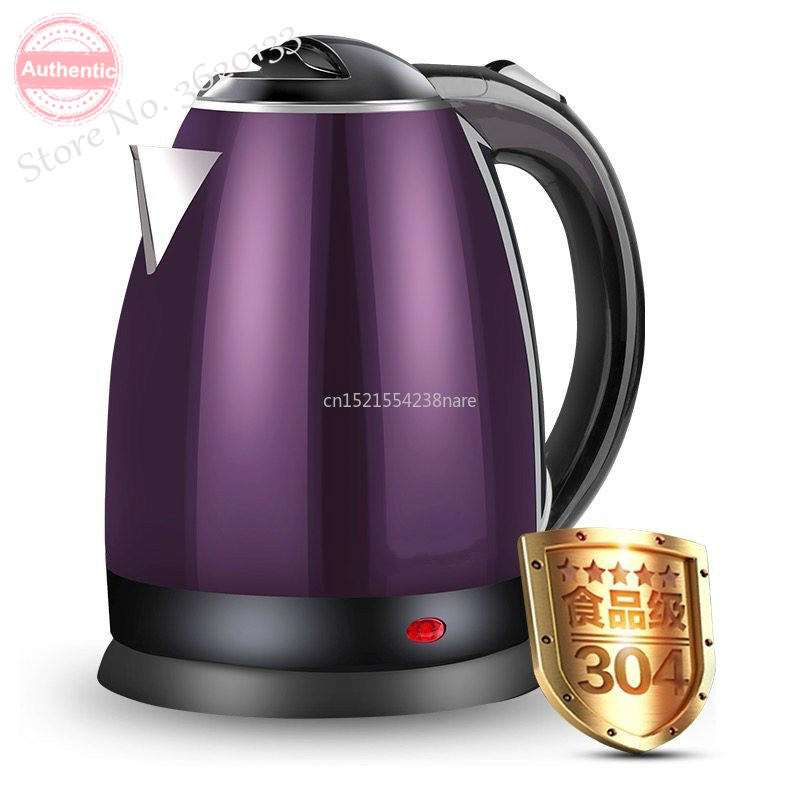 1.8L,304 Stainless Steel Water Boiler Bottle Electric Water Kettlefood Grade Anti-hot Underpan Heating Safety AutoOff 1500W 220V