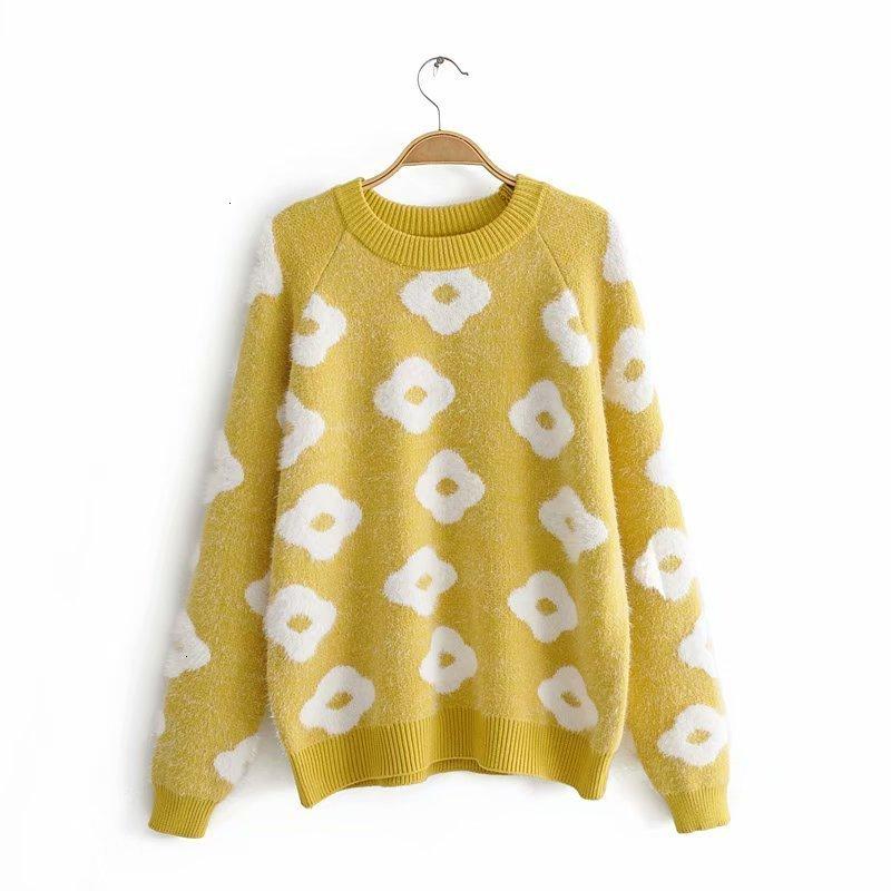Hot Buy JJJ58 -9846 European And American Fashion Sunflower Sweaters