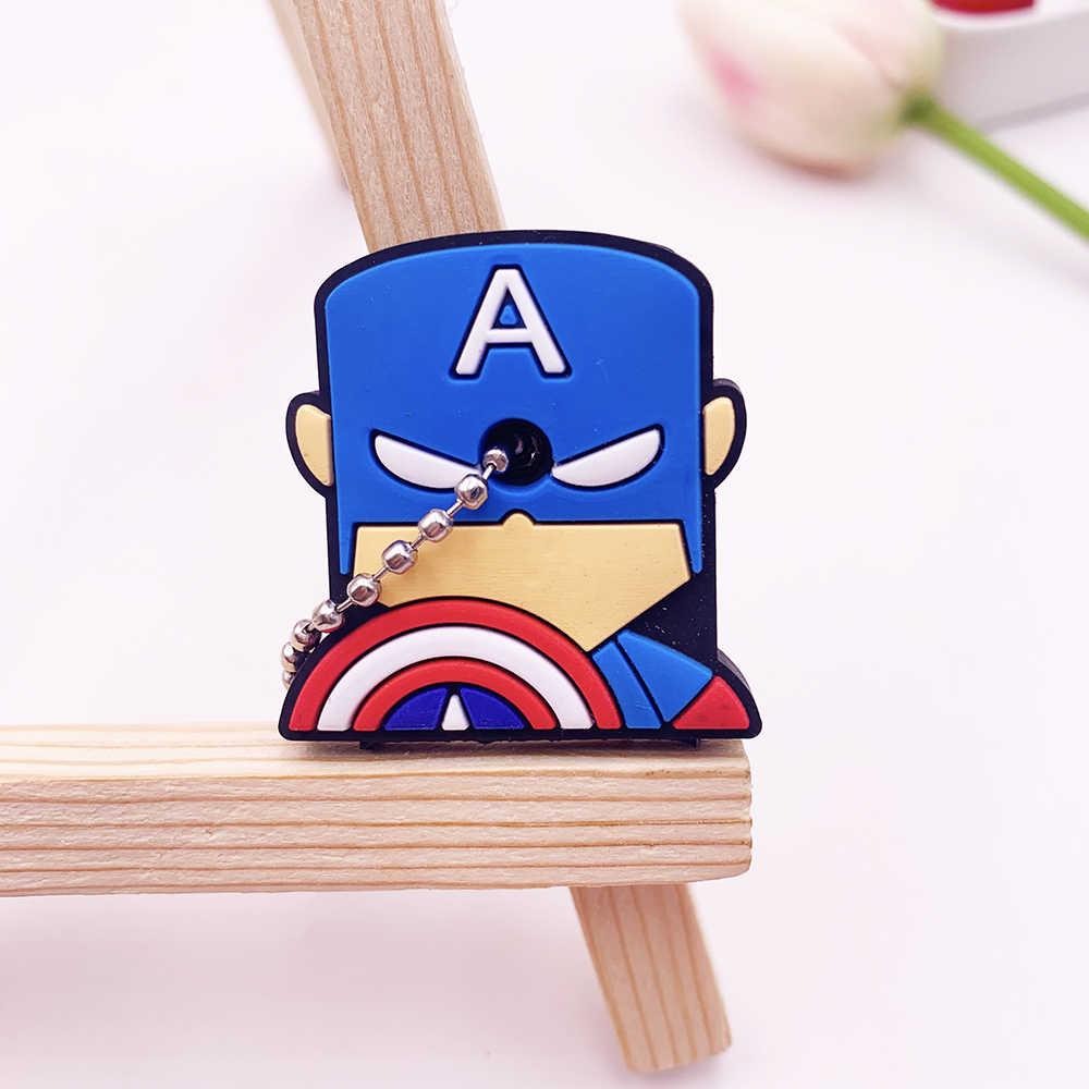 Film Avengers dessin animé Silicone étui de protection pour clé de contrôle poussière porte-couvercle organisateur fournitures pour la maison