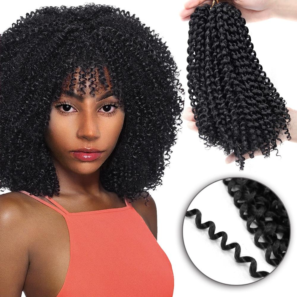 YxCheris Synthetic Crochet Hair Jerry Curl Bundles Weave Braiding Hair With Ombre Crochet Braids Hair Extension Bulk Hair