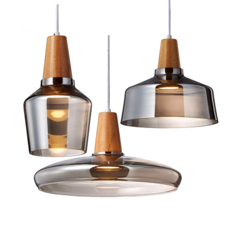 Modern Glass Kitchen Island Pendant Light LED lamp Bedside Hanging Lamp Ceiling Lamps Lighting Fixtures Bedroom Living Room|Pendant Lights| |  - title=