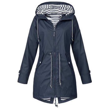 Windproof Long Hooded Jacket