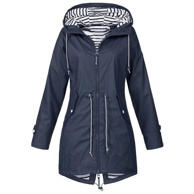 Windproof Long Hooded Jacket