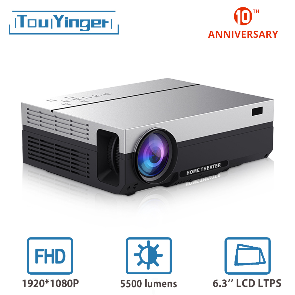 Touyinger T26L нативный 1080p светодиодный full HD проектор видео проектор 5500 люмен FHD Домашний кинотеатр HDMI (Android 9,0 wifi AC3 опционально)