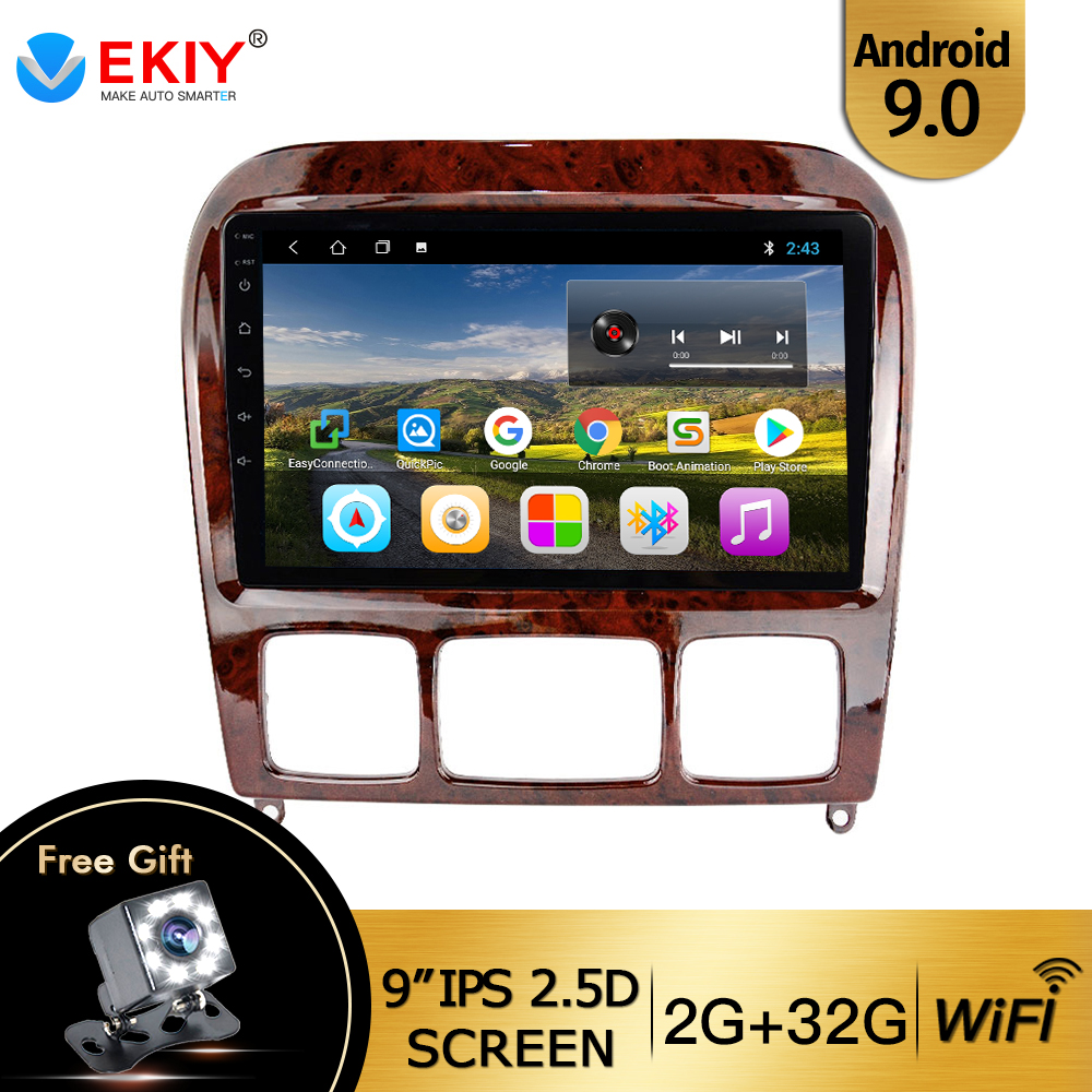 EKIY 9'' IPS Car Multimedia Player <font><b>GPS</b></font> 2Din <font><b>For</b></font> 1998-2005 <font><b>Mercedes</b></font> Benz S Class W220 S280 S320 S350 S400 S430 <font><b>S500</b></font> S600 S55 AMG image