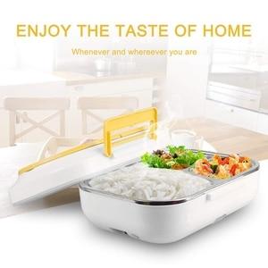 Image 5 - Tragbare Elektrische Mittagessen Box Auto mit 12V Haushalt Elektrische Heizung mit Abnehmbare Edelstahl Behälter Lebensmittel Heizung EU stecker