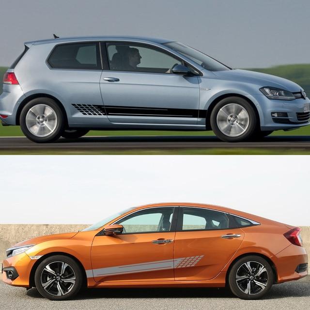 Car Side Stickers For Volkswagen VW Audi Ford BMW Toyota Peugeot Mercedes Renault Opel Chevrolet Honda