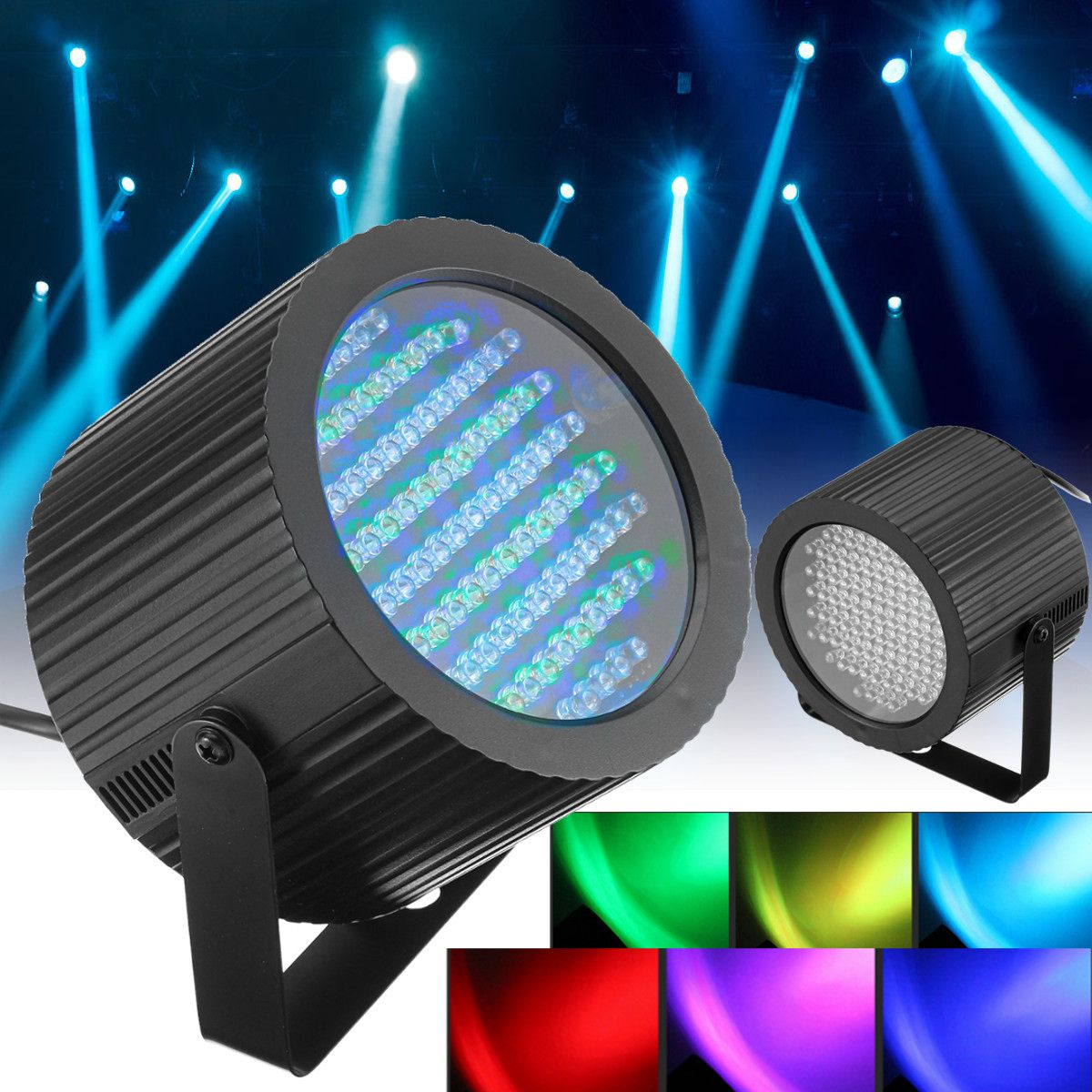 2 Pcs 86 RGB 25W 7 Channels LED Stage Light DMX Laser Projector LED Lamp DJ Disco Club Bar Party Stage Effect Lighting Lights