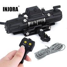 INJORA Dual Motoren Automatische Winde Drahtlose Fernbedienung System für 1:10 RC Crawler Auto Axial SCX10 90046 Traxxas TRX4 TRX6