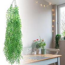 Длинный стиль висячее растение лоза искусственные растения ива стены украшения дома оформление балкона цветочные корзины аксессуары