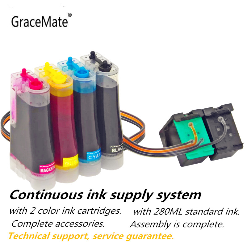GraceMate Compatible CISS Replacement for <font><b>HP</b></font> 131 135 <font><b>Ink</b></font> System for <font><b>Hp</b></font> Photosmart <font><b>C3100</b></font> C3183 C3150 C3180 PSC1500 1510 1513 1600 image