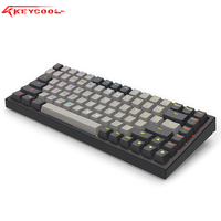 Keycool kc84keys teclado mecânico  pbt interruptor de chave sem fio para laptop  gateron