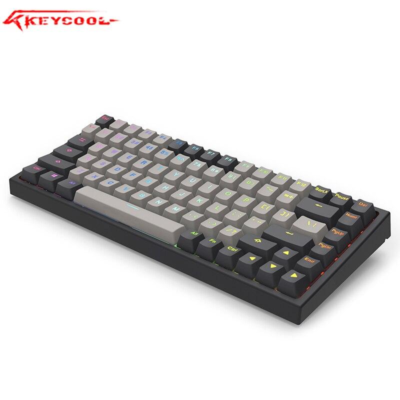 Keycool Kc84keys Mechanical Keyboard PBT Keycap  Hotswaple Optical Switch Cherry Switch Laptop, Wired Keyboard.84RGB Gateron