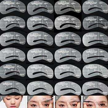 24Styles/Set Reusable Eyebrow Stencil Brow Shaping Template  Eye Brow DIY Drawing Guide Makeup Beauty Tool Eyebrow Stencils