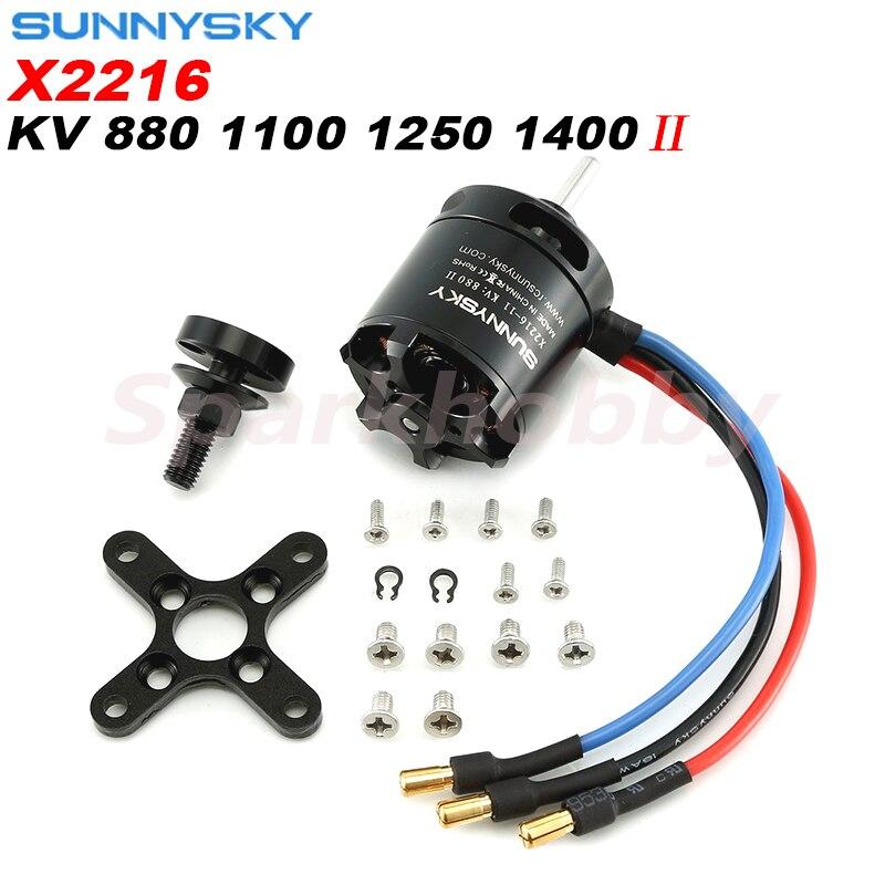 1PC Original SUNNYSKY X2216 KV880/KV1100/KV1250/KV1400 Brushless Motor (Rear Output Shaft ) For RC Models F3D F3A Airplane