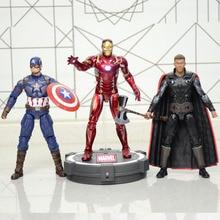 18CM Iron spider Iron Man Thor Action Figure Captain America Winter Soldier Ant-Man  Falcon Infinity War Action Figure Model Toy neca terminator endoskeleton action figure classic figure toy 18cm