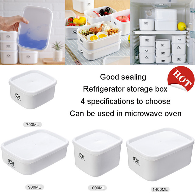 Food Fresh Storage Box Containers Kitchen Fridge Organizer Case Removable Drain Plate Tray For Keep Fruits Vegetables Meat Fish