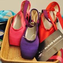 Chaussures de Ballet à Pointe en Satin pour femmes et filles, chaussures de danse professionnelles avec rubans