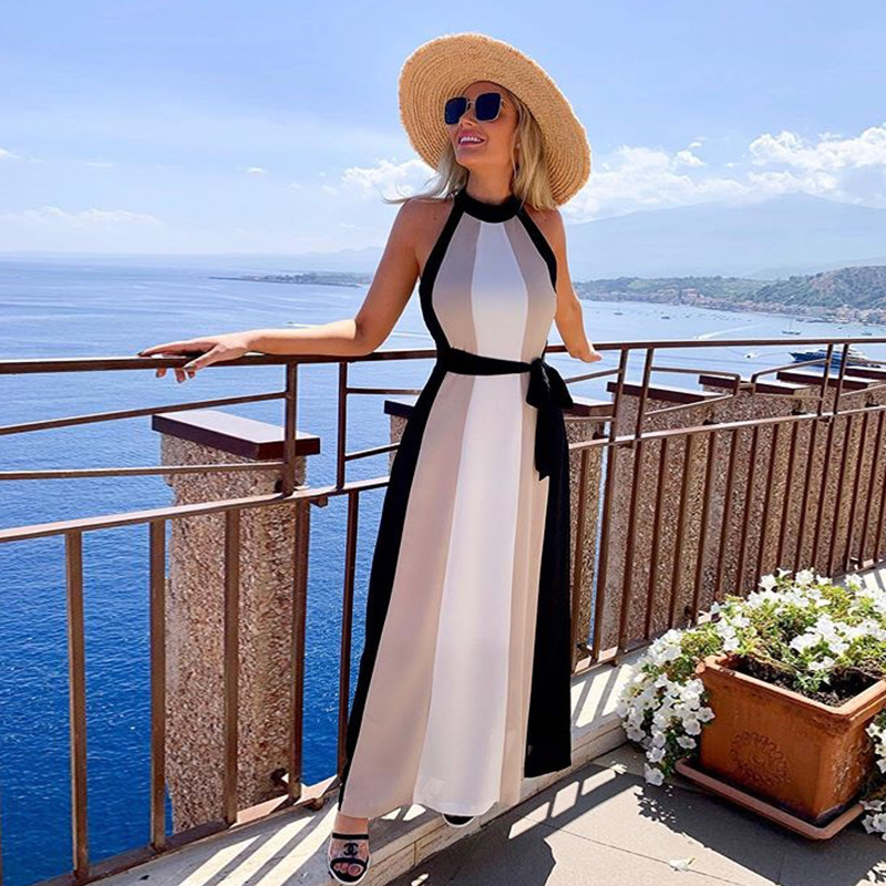 Beach Outings For Women 2019 Women's Tunic Swimsuit Cape Swimwear Cover Up New Fall Ladies Dress Sexy Long Sleeveless Neck Spell