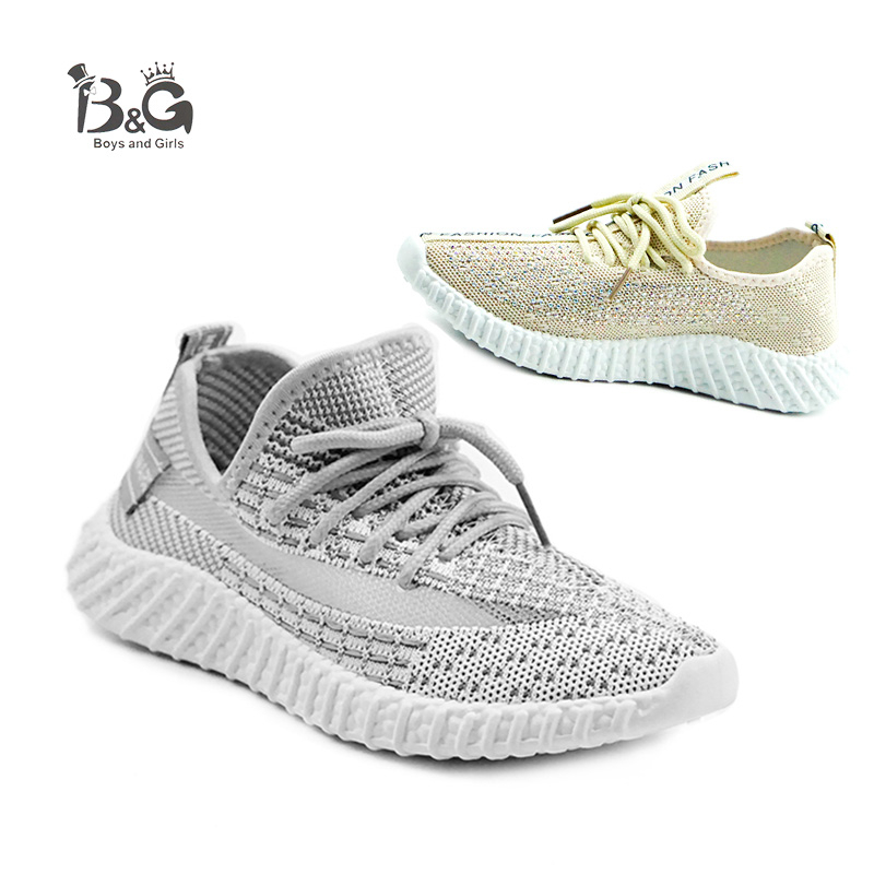 B&G Breathable Childern Running Shoes Boys Fashion Brand Shoes Antislip Girls Summer Outdoor Sneakers