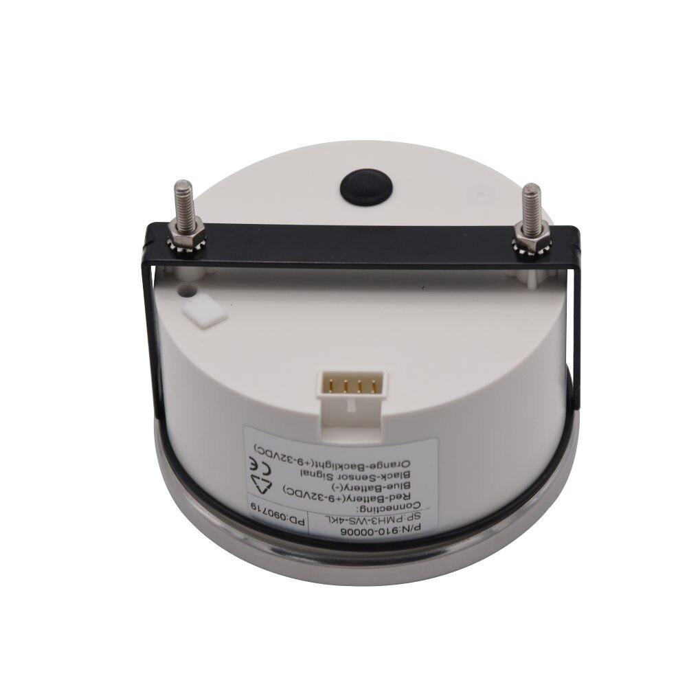 Jauge 9-32V de Tacho de générateur de moteur Diesel hors-bord marin de compteur de Tacho de tachymètre de 85mm 4000 t/mn LED - 6