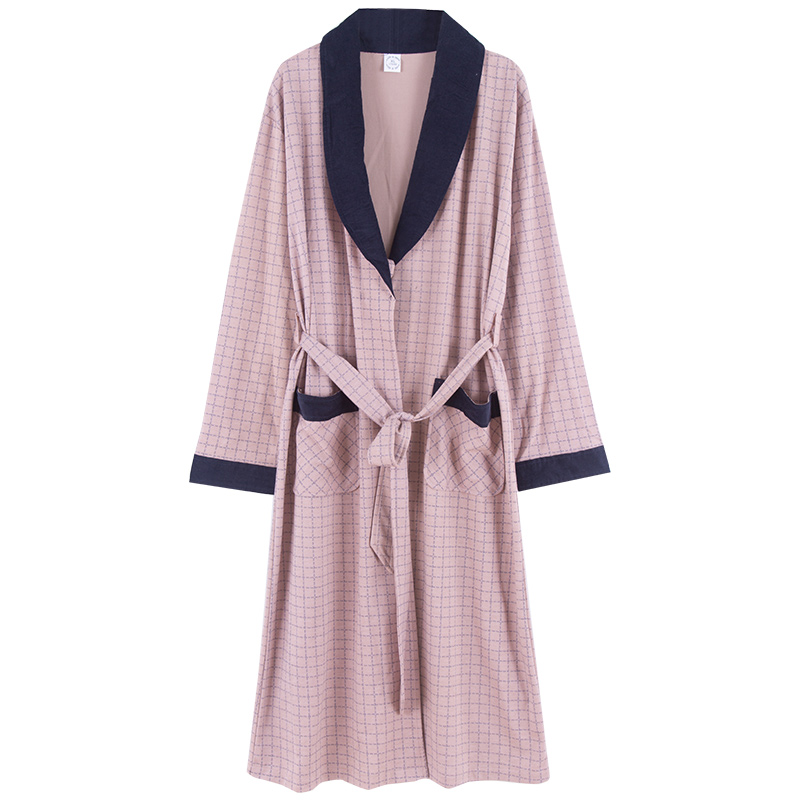 Robe Pajamas-Set Clothing Cotton Home Long Brand Shower Spring Spa Autumn